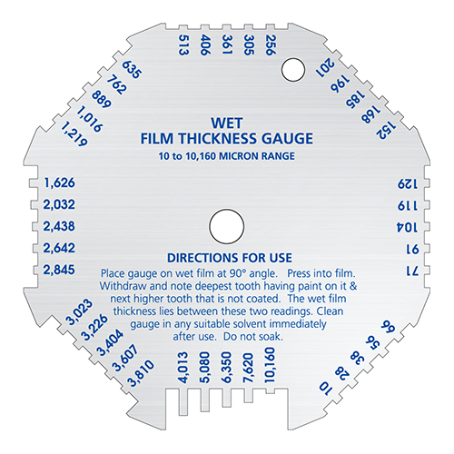 Octagon Wet Film Thickness Gauge with Gardco Logo Micron